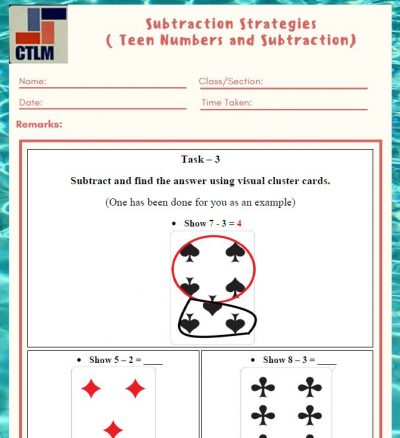 14. Subtraction Strategies - Subtraction using Visual Cluster Cards
