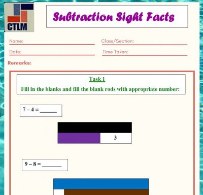 15. Subtraction Strategies - Subtraction using Cuisenaire rods