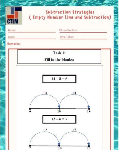 16. Subtraction Strategies - Empty Number Line